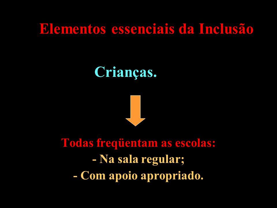 Elementos essenciais da Inclusão Professores.