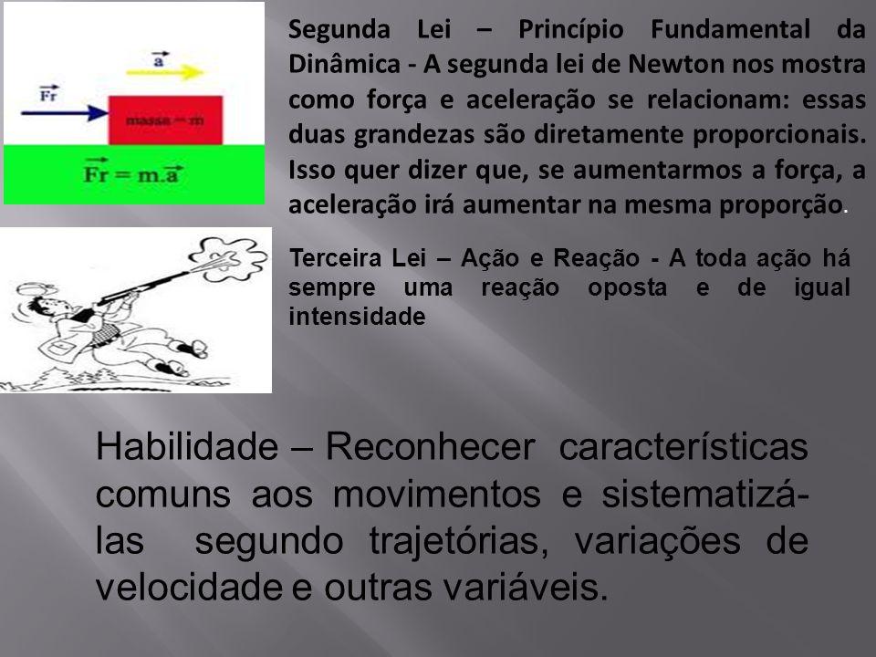 Segunda Lei – Princípio Fundamental da Dinâmica - A segunda lei de Newton nos mostra como força e aceleração se relacionam: essas duas grandezas são d