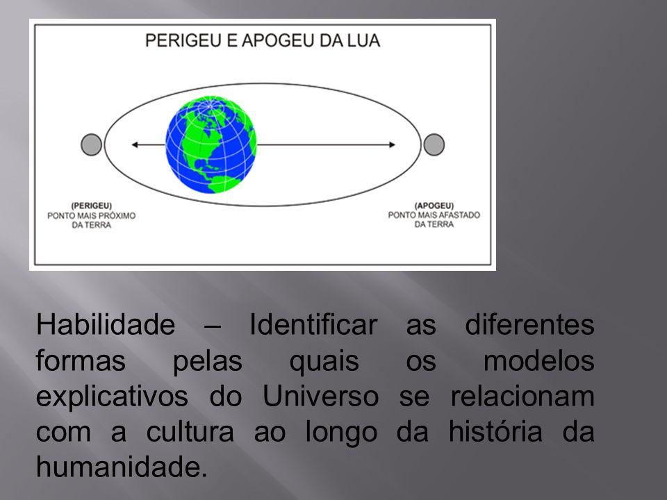 Habilidade – Identificar as diferentes formas pelas quais os modelos explicativos do Universo se relacionam com a cultura ao longo da história da huma