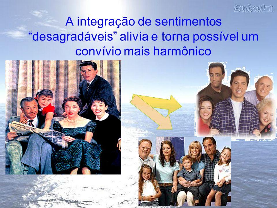 A integração de sentimentos desagradáveis alivia e torna possível um convívio mais harmônico