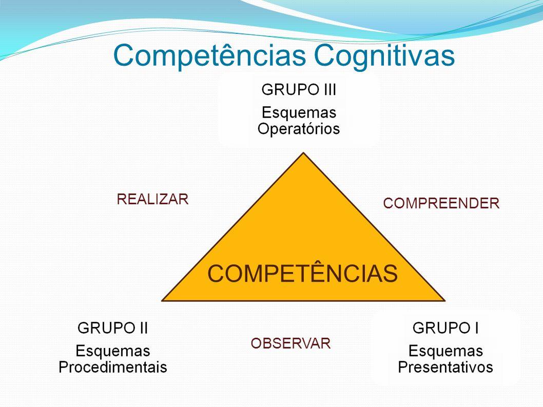 Competências Cognitivas COMPETÊNCIAS REALIZAR COMPREENDER OBSERVAR