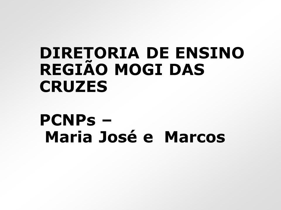 DIRETORIA DE ENSINO REGIÃO MOGI DAS CRUZES PCNPs – Maria José e Marcos