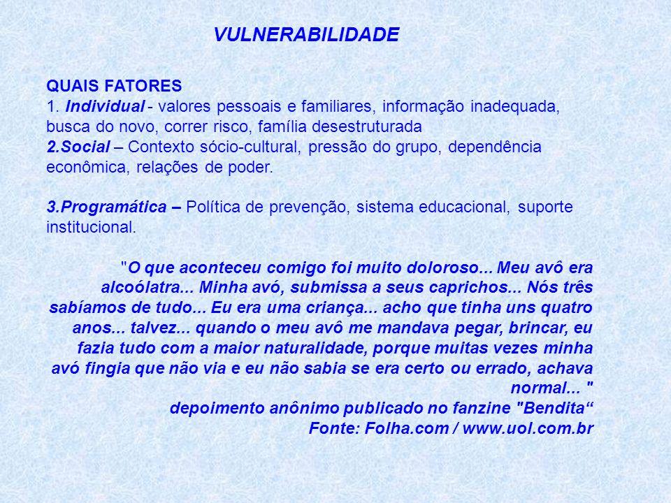 VULNERABILIDADE QUAIS FATORES 1.