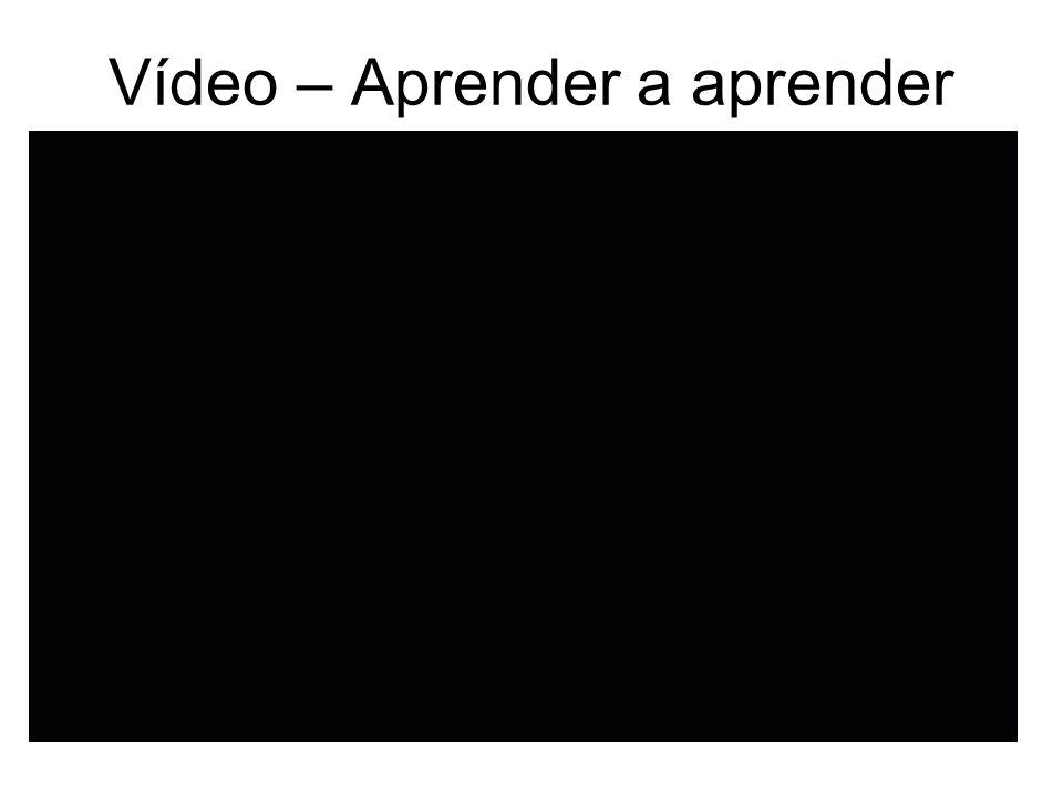 Vídeo – Aprender a aprender