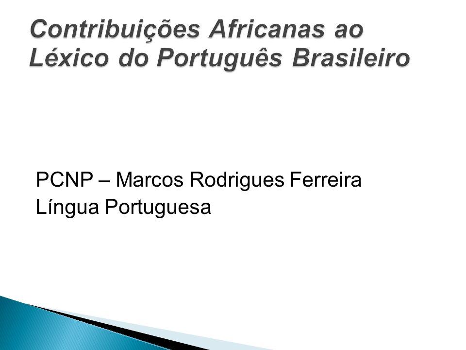 O português brasileiro foi o mais extensivamente exposto à influência das línguas africanas, pois de 1538 a 1855 foram trazidos cerca de 18 milhões de escravos negros, sujeitos a um contato mais intenso com a escassa população branca, em contraposição aos 6 milhões de indígenas.