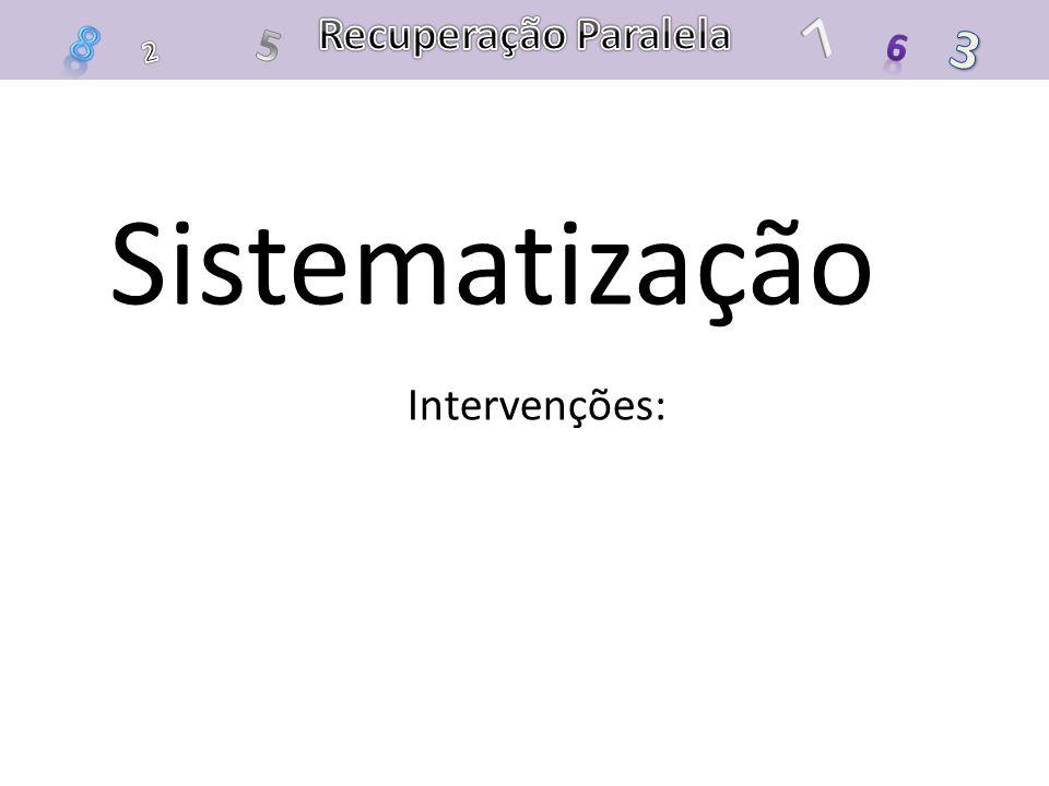 Sistematização Intervenções: