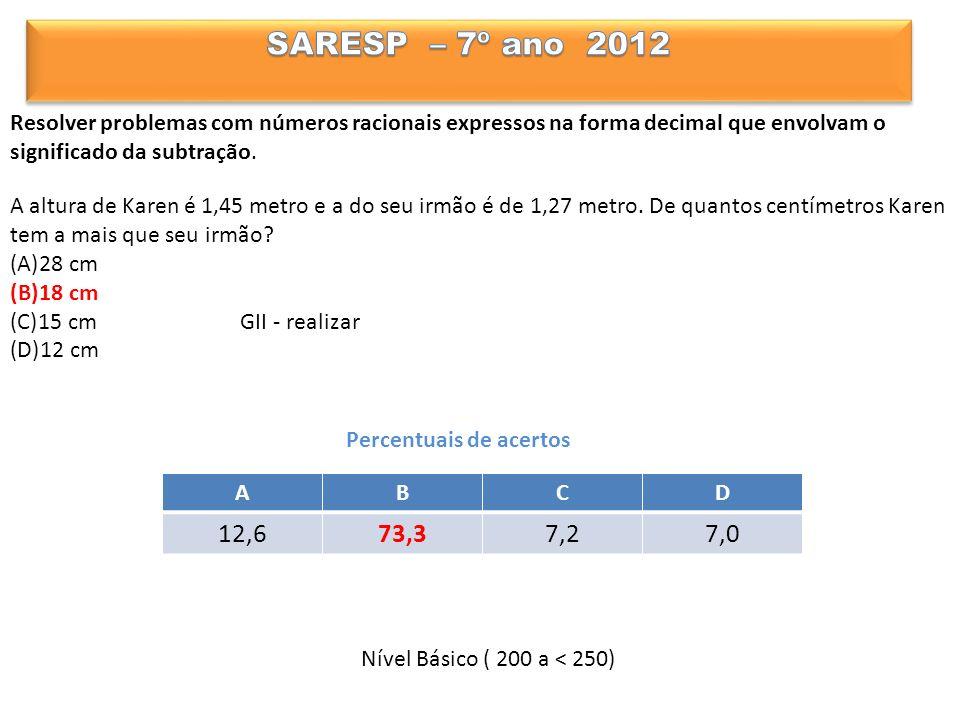 Resolver problemas com números racionais expressos na forma decimal que envolvam o significado da subtração.