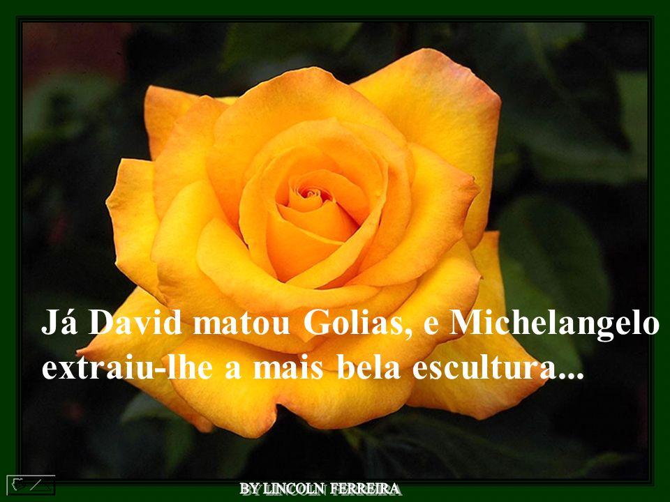 Já David matou Golias, e Michelangelo extraiu-lhe a mais bela escultura...