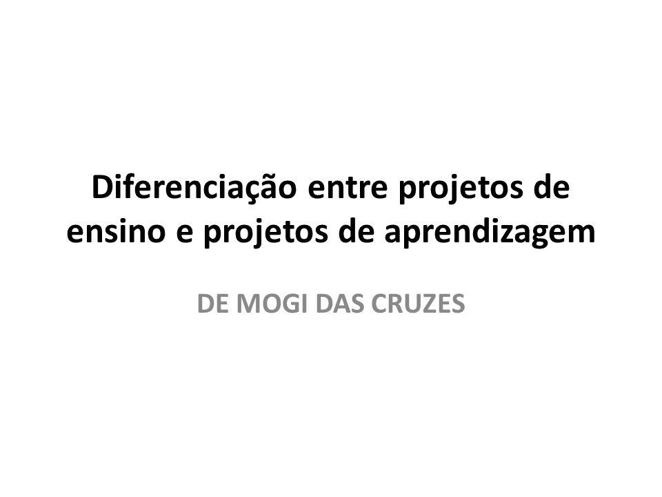 Diferenciação entre projetos de ensino e projetos de aprendizagem DE MOGI DAS CRUZES