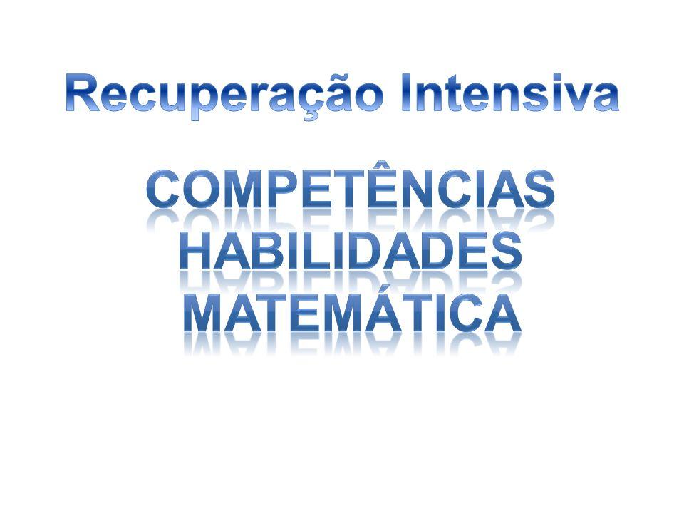Competências Habilidades 6ª série/7°ano Competência de Área 1 – Números e Operações Desenvolver o raciocínio quantitativo e o pensamento em termos de relações e a variedade de suas representações, incluindo as simbólicas, as algébricas, as gráficas, as tabulares e as geométricas..H01 Calcular o resultado de uma adição ou subtração de números naturais.