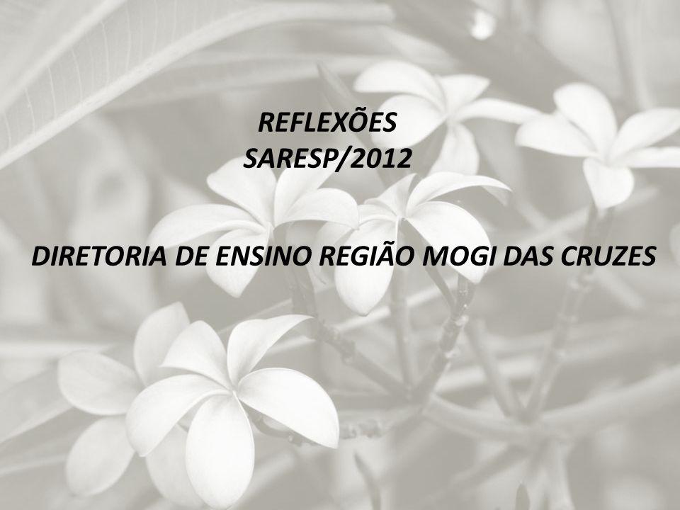 REFLEXÕES SARESP/2012 DIRETORIA DE ENSINO REGIÃO MOGI DAS CRUZES