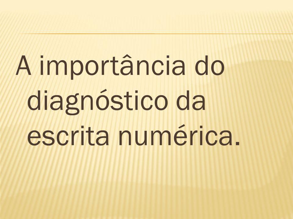 A importância do diagnóstico da escrita numérica.