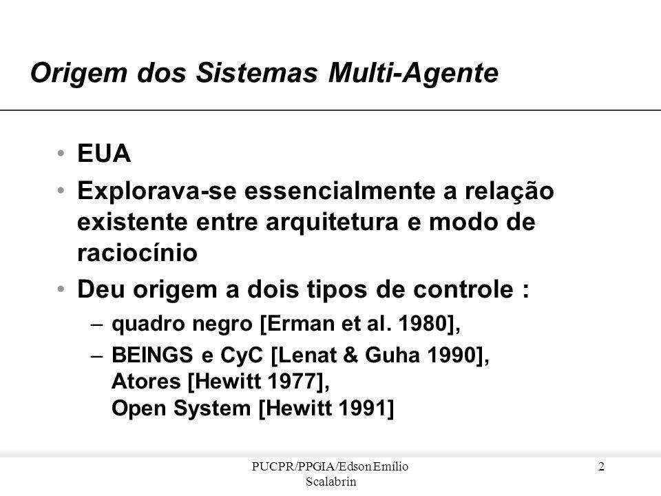 Exemplos de Sistemas-Multi-Agente Professor Edson Emílio Scalabrin PUCPR / PPGIA e-mail: scalabrin@ppgia.pucpr.br