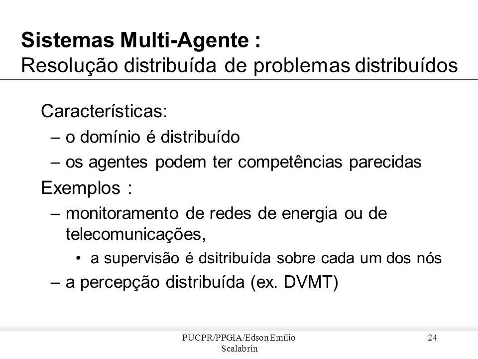 PUCPR/PPGIA/Edson Emílio Scalabrin 23 Exemplo de Resolução distribuída... Resultados do sistema Flavors Paint Shop : –redução drástica do custo de man