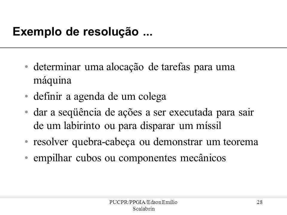PUCPR/PPGIA/Edson Emílio Scalabrin 27 Sistemas Multi-Agente : Resolução por coordenação Problema : –Encontrar uma solução para um problema cujo enunci