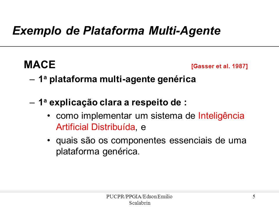 PUCPR/PPGIA/Edson Emílio Scalabrin 4 Exemplo de... –Contribuições do projeto DVMT: examinou-se um grande número de configurações envolvendo sensores e