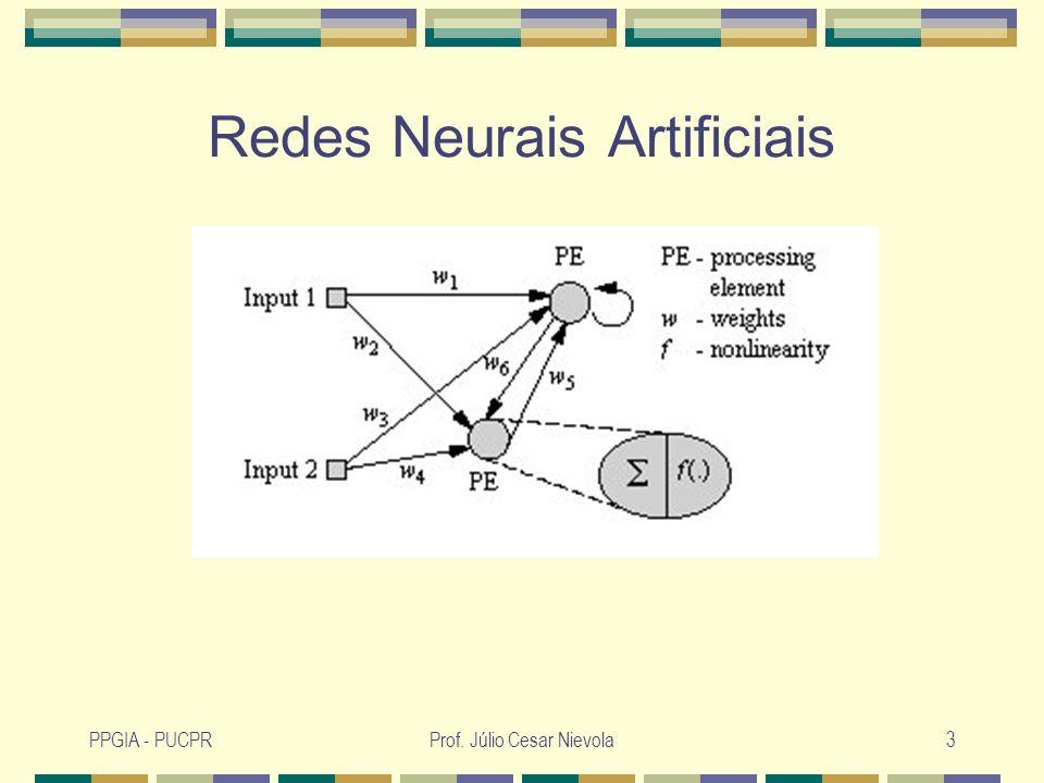PPGIA - PUCPRProf. Júlio Cesar Nievola3 Redes Neurais Artificiais