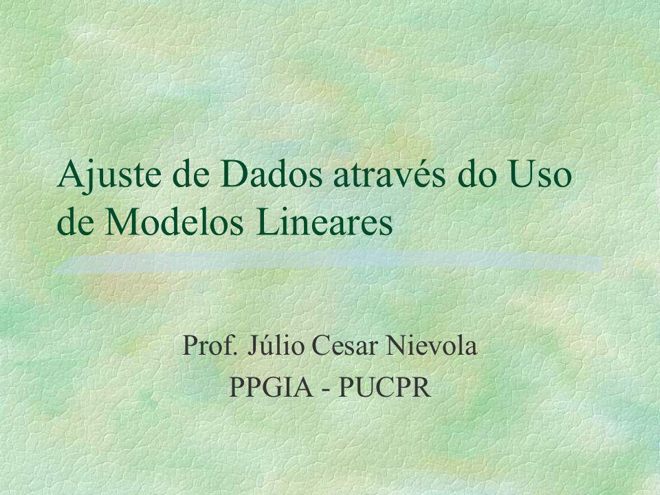 Ajuste de Dados através do Uso de Modelos Lineares Prof. Júlio Cesar Nievola PPGIA - PUCPR
