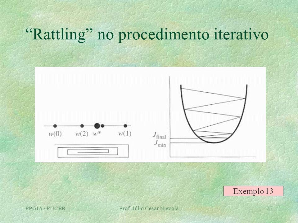 PPGIA - PUCPRProf. Júlio Cesar Nievola27 Rattling no procedimento iterativo Exemplo 13