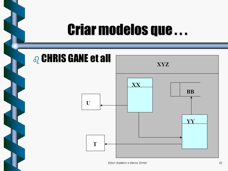 Edson Scalabrin e Marcos Shmeil26 b CHRIS GANE et all Criar modelos que... XYZ XX YY BB U T