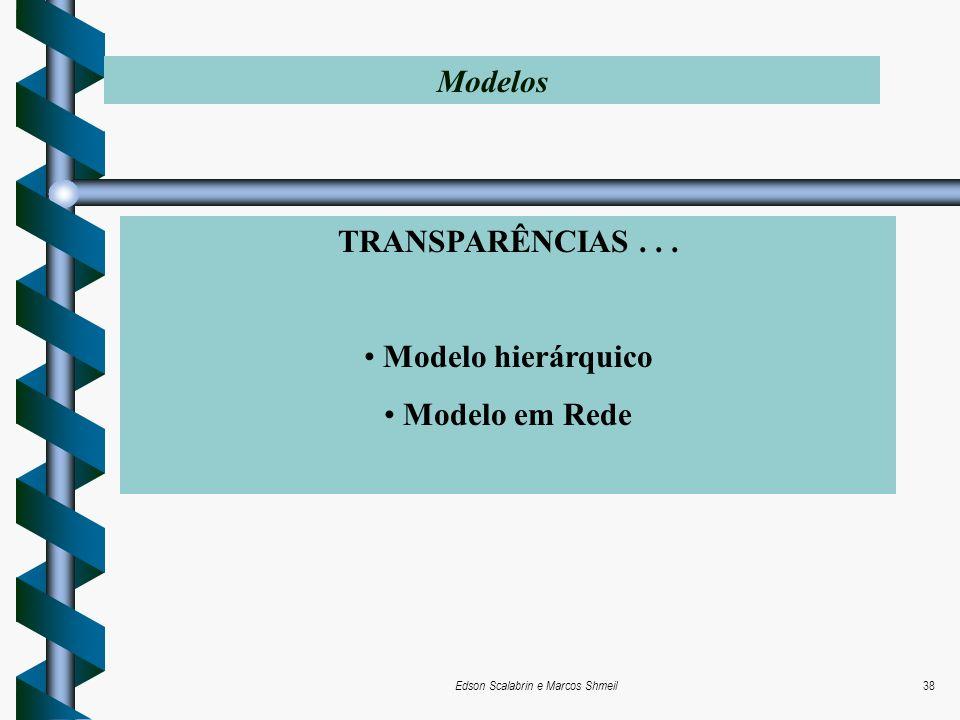 Edson Scalabrin e Marcos Shmeil38 TRANSPARÊNCIAS... Modelo hierárquico Modelo em Rede Modelos
