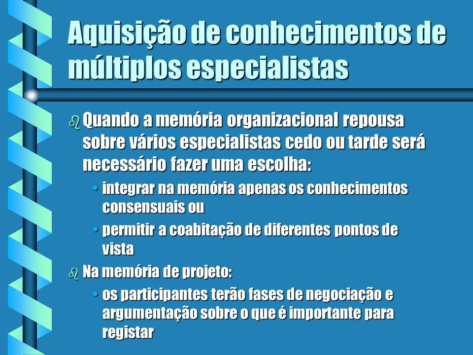 Aquisição de conhecimentos de múltiplos especialistas b Iniciativa de modelagem: combinação de modelos de expertisecombinação de modelos de expertise
