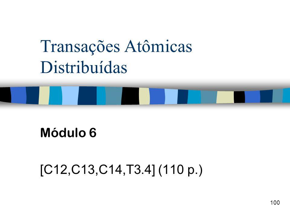 100 Transações Atômicas Distribuídas Módulo 6 [C12,C13,C14,T3.4] (110 p.)