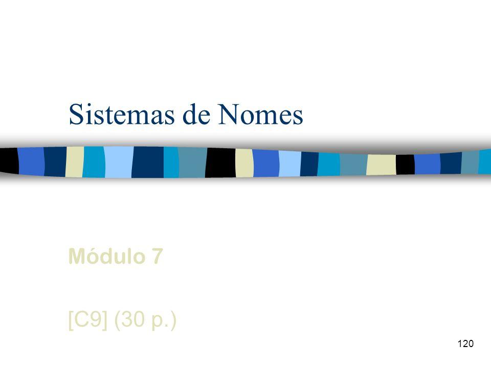 120 Sistemas de Nomes Módulo 7 [C9] (30 p.)