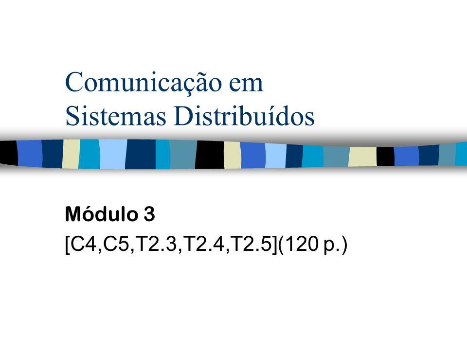 Comunicação em Sistemas Distribuídos Módulo 3 [C4,C5,T2.3,T2.4,T2.5](120 p.)