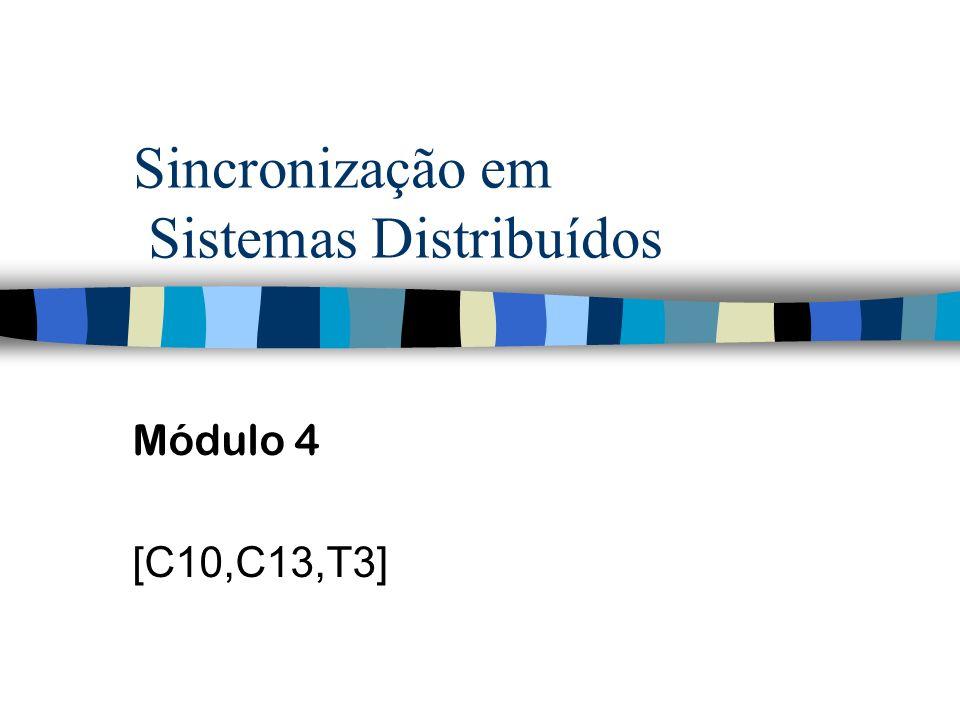 Sincronização em Sistemas Distribuídos Módulo 4 [C10,C13,T3]