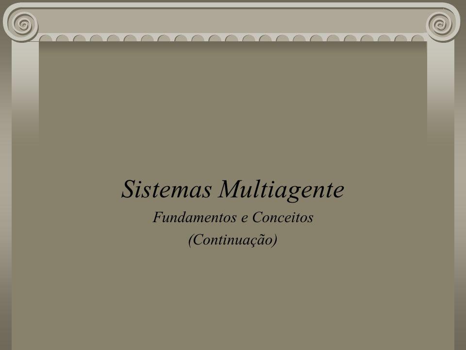 Sistemas Multiagente Fundamentos e Conceitos (Continuação)