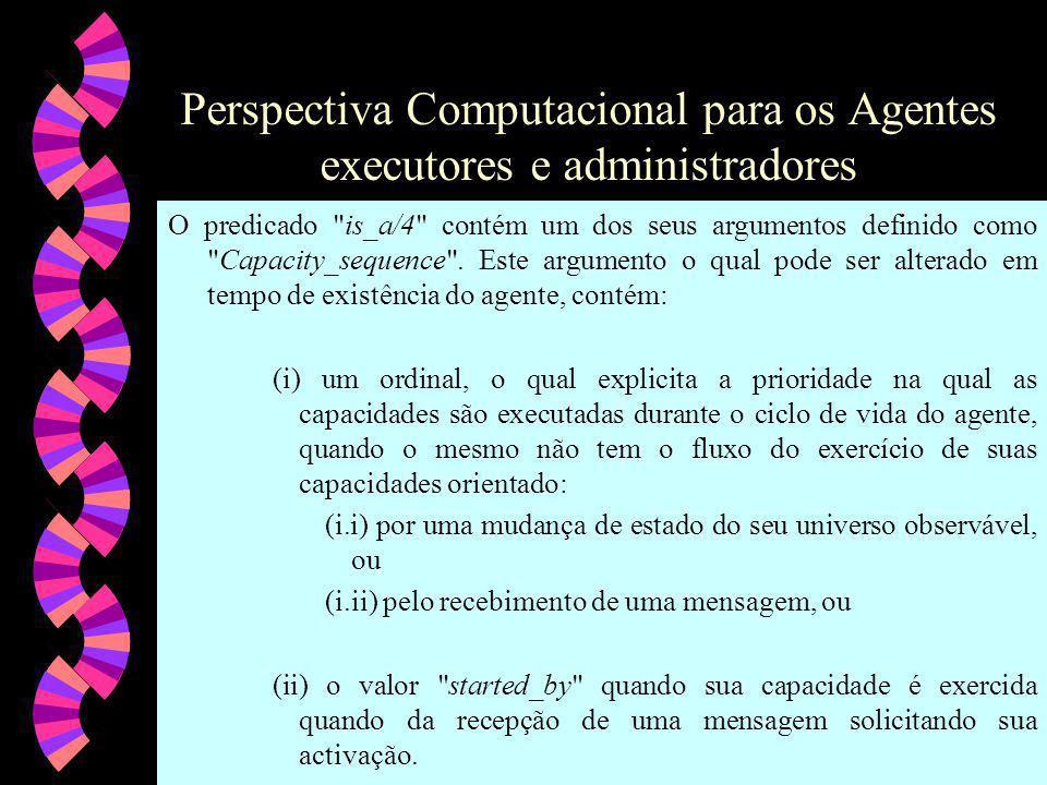 Perspectiva Computacional para os Agentes executores e administradores O predicado is_a/4 contém um dos seus argumentos definido como Capacity_sequence .