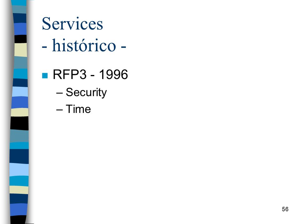56 Services - histórico - n RFP3 - 1996 –Security –Time