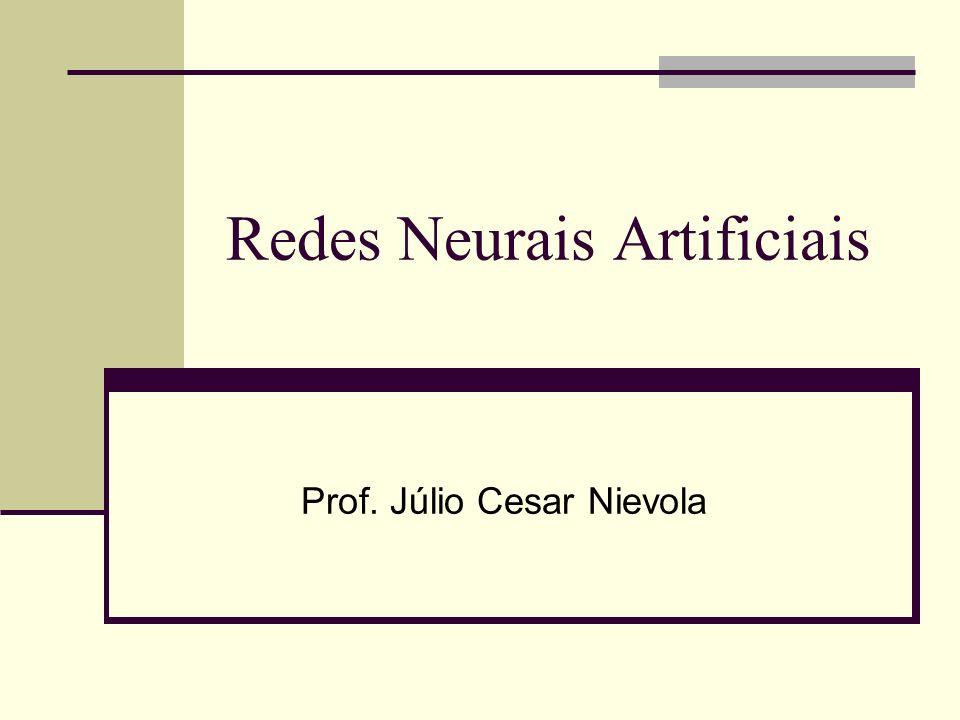 Redes Neurais Artificiais Prof. Júlio Cesar Nievola