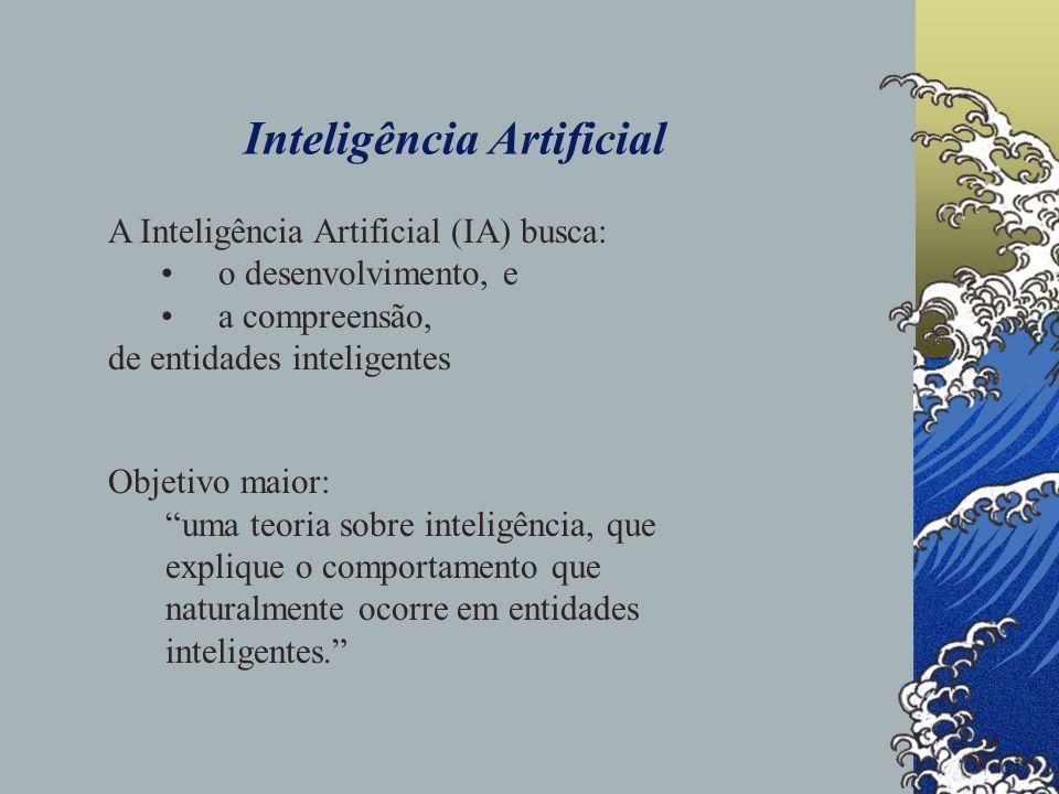 Inteligência Artificial Ela orienta a criação de artefatos (entidades artificiais), capazes de exibir comportamento inteligente.