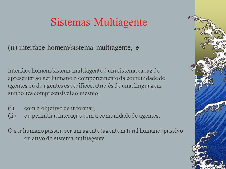 Sistemas Multiagente (ii) interface homem/sistema multiagente, e Uma interface homem/sistema multiagente é um sistema capaz de apresentar ao ser human