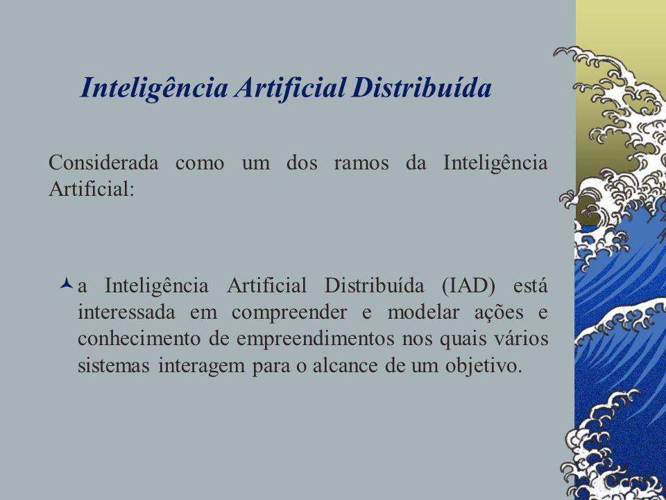 Inteligência Artificial Distribuída um ambiente distribuído, onde cada objetivo é constituído por várias tarefas (tY), as quais ocorrem ao longo do tempo de forma seqüencial e/ou paralela, e cujas execuções são da competência dos sistemas envolvidos (executores representados por,,...).