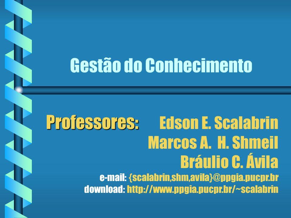 Gestão do Conhecimento Professores: Professores: Edson E.