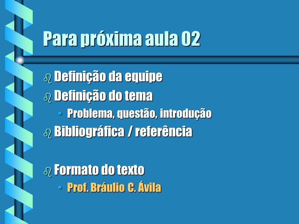 5 Parte teórica Individual Organização Ambiente / Cultural ConceitoMetodologiaTecnologia X X X XX XX XX Posicionamento do tema Conhecimento