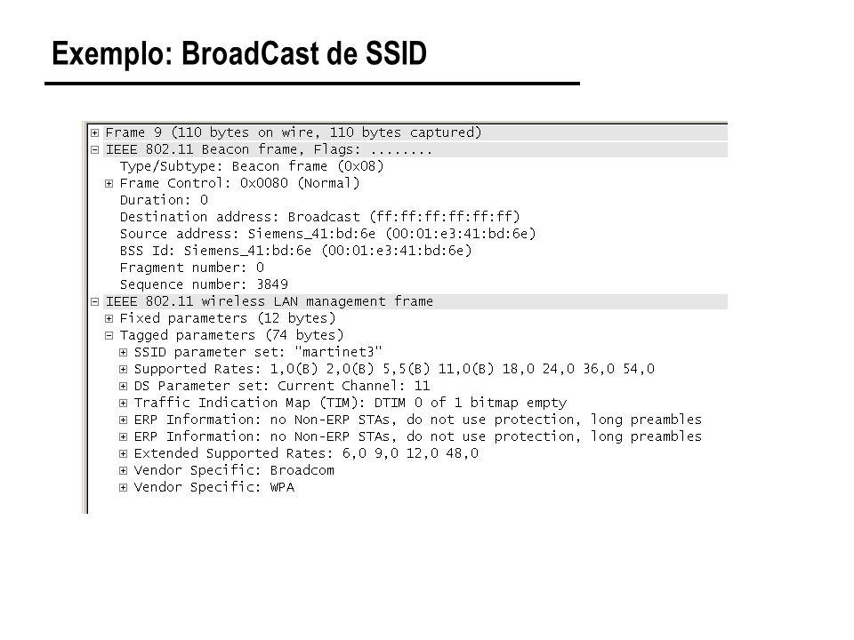 Exemplo: BroadCast de SSID