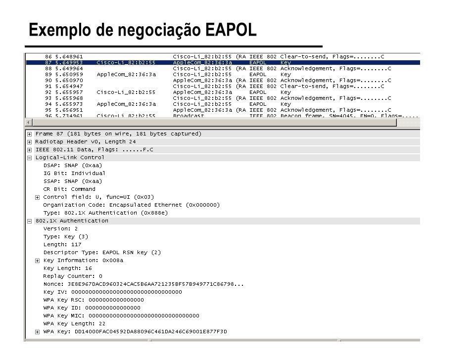 Exemplo de negociação EAPOL
