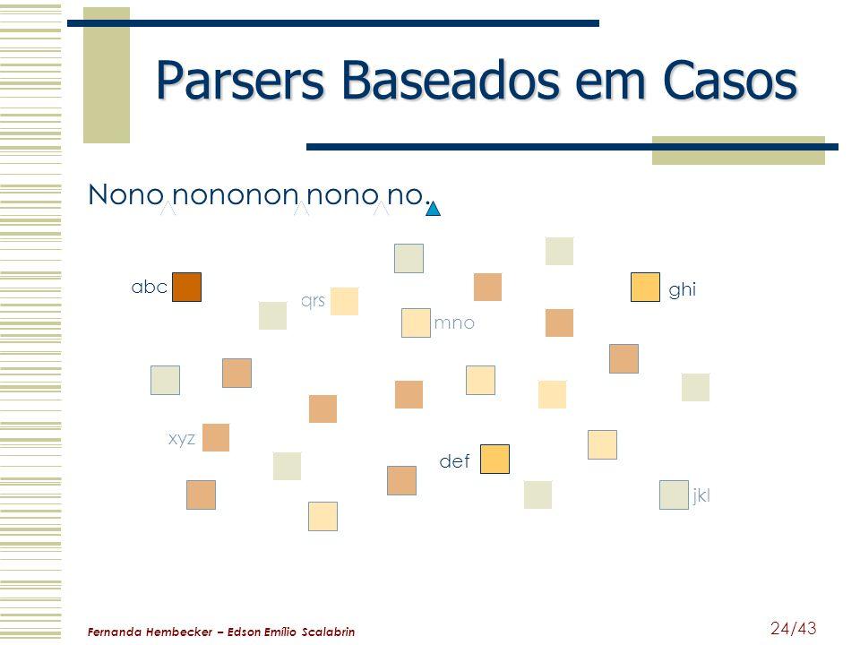 Fernanda Hembecker – Edson Emílio Scalabrin 24/43 mno jkl Parsers Baseados em Casos Nono nononon nono no. abc def qrs ghi xyz