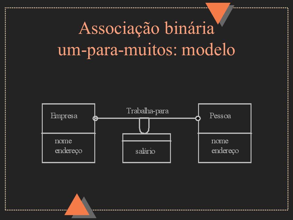 Associação binária um-para-muitos: modelo