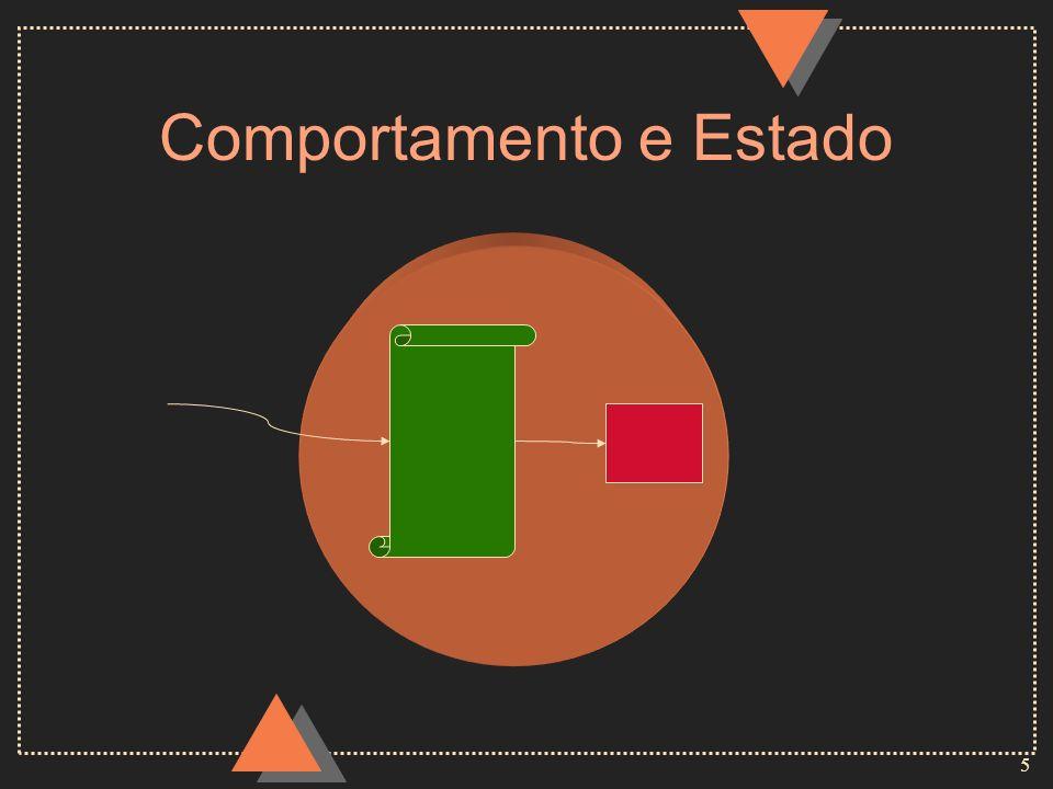 6 Encapsulamento u Separação dos aspectos externos de um objeto dos seus detalhes internos de implementação u O estado de um objeto somente é acessível a partir da implementação de seu comportamento