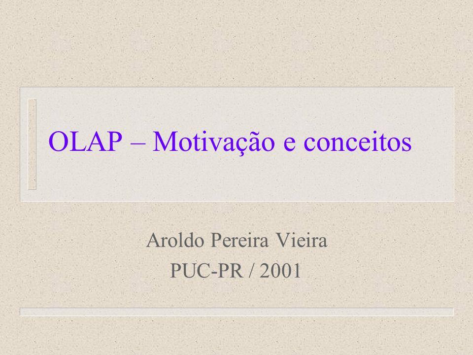 OLAP – Motivação e conceitos Aroldo Pereira Vieira PUC-PR / 2001