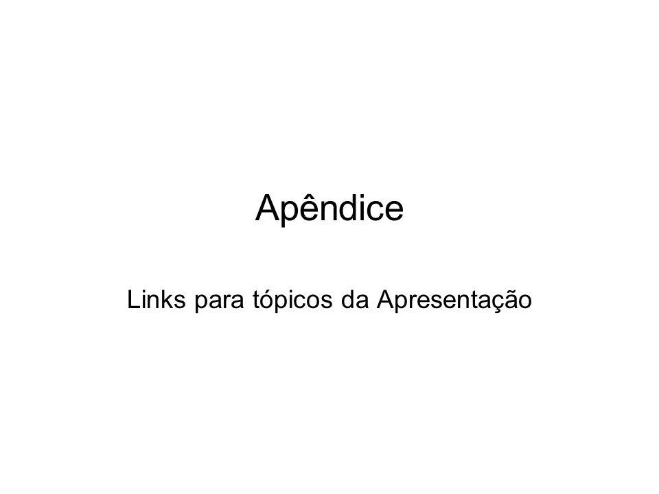 Apêndice Links para tópicos da Apresentação