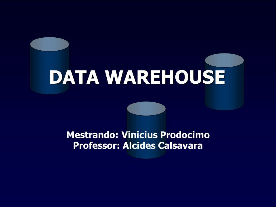 Mestrando: Vinicius Prodocimo Professor: Alcides Calsavara DATA WAREHOUSE