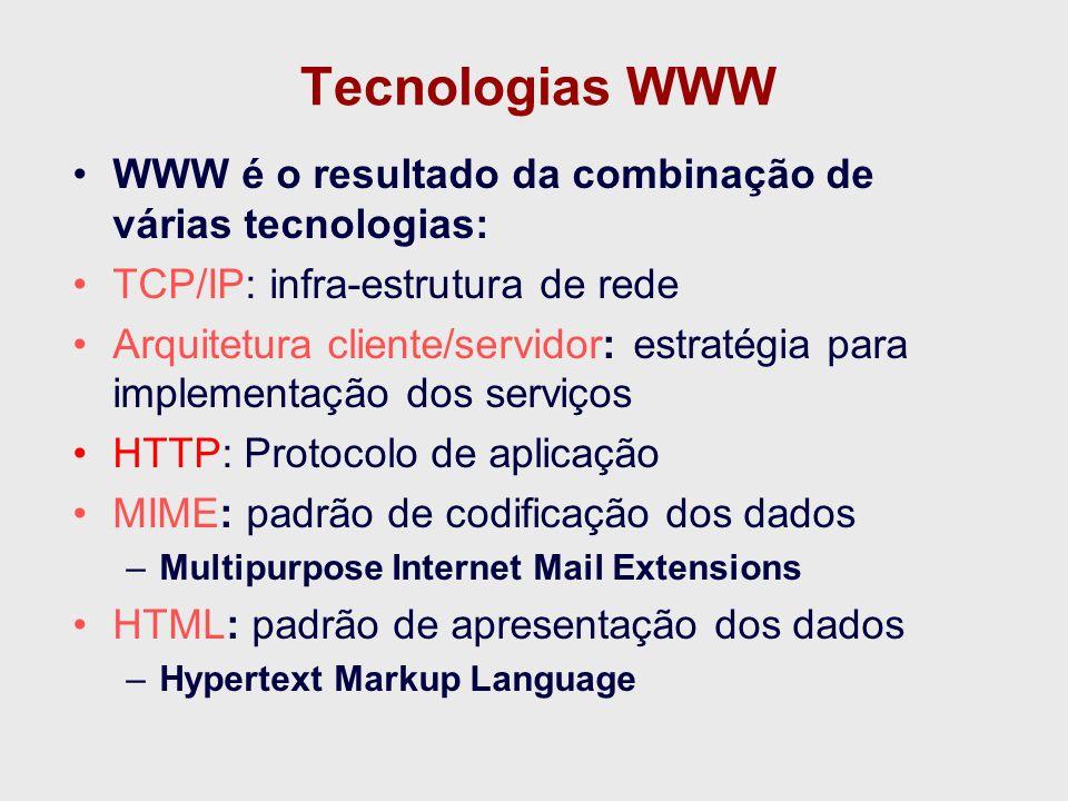 Interface Universal WWW: Interface Universal para Dados e Aplicações Informações Aplicações WWW