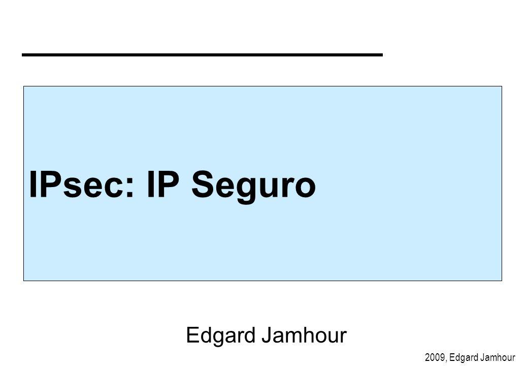 2009, Edgard Jamhour IPsec: IP Seguro Edgard Jamhour