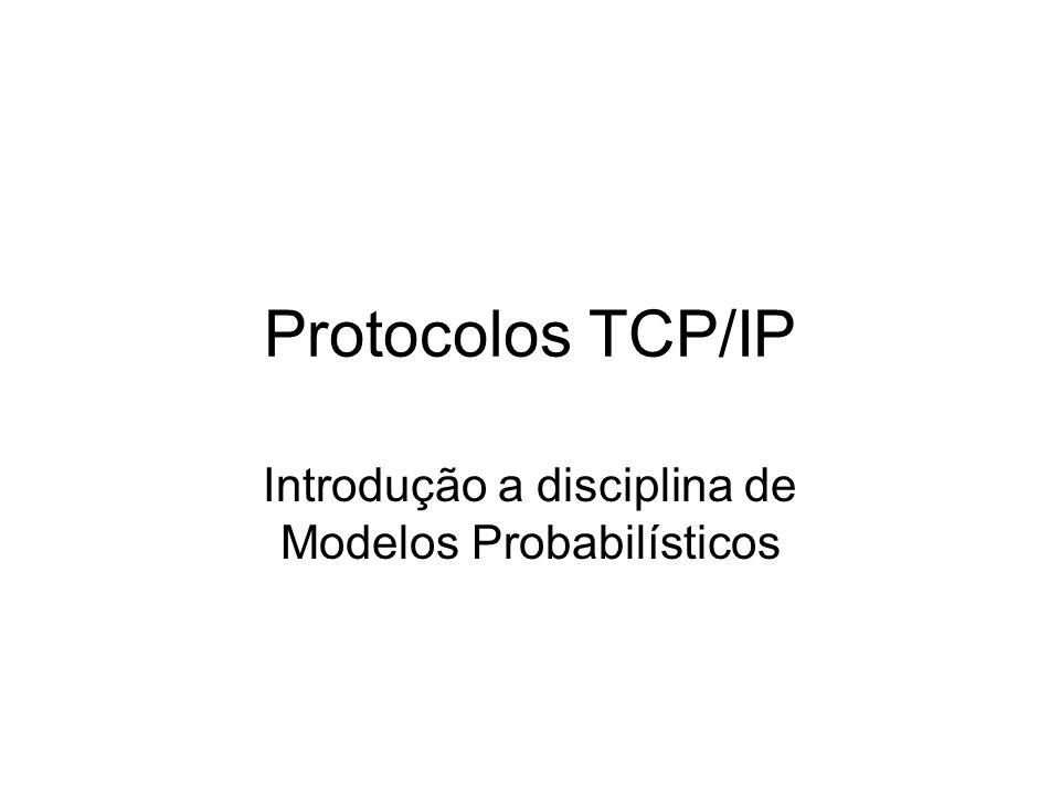Protocolos TCP/IP Introdução a disciplina de Modelos Probabilísticos